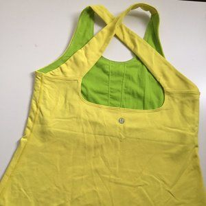 Lululemon high support tank yellow